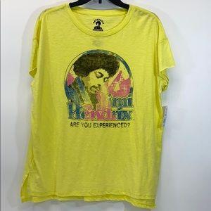 Jimi Hendrix yellow graphic T-shirt large NWT